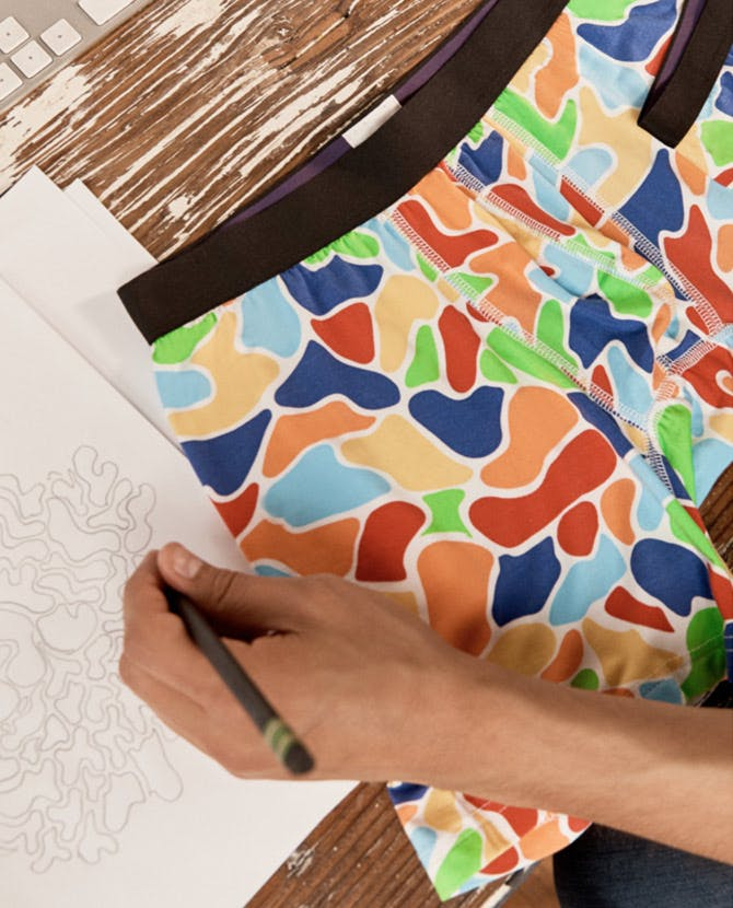 Oscar Zaldaña sketching out the True Colors design