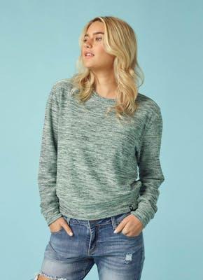 Women's Hacci Crew Sweatshirt