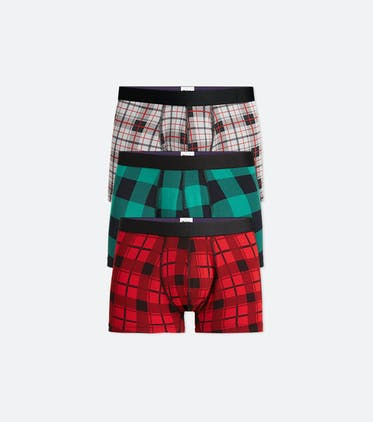 Trunk 3-Pack in Plaid Pack