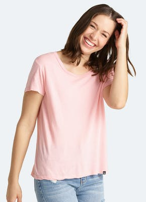 Soft Jersey Scoop Tee