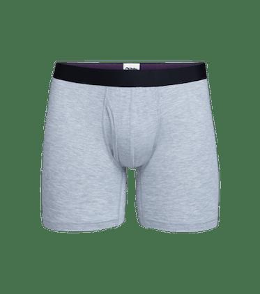Men's Boxer Brief w/ Fly in Heather Grey