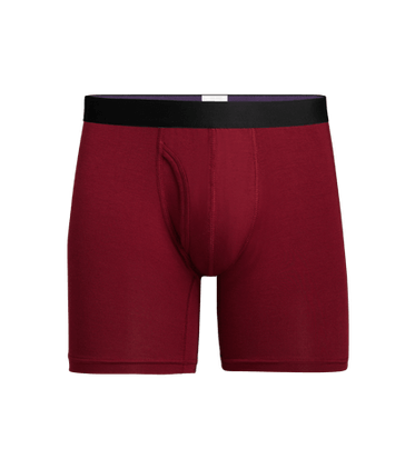 Men's Boxer Brief w/ Fly in Cabernet