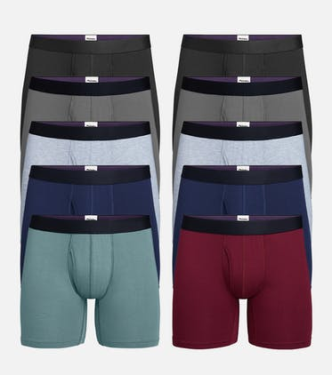 Boxer Brief w/ Fly 10-Pack in Classic Pack