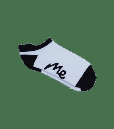 Ankle Sock in White & Black