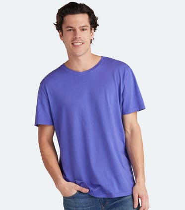 Soft Jersey Crew Tee in Grape