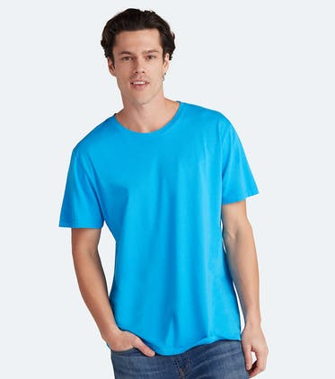 Soft Jersey Crew Tee in Blue Raspberry
