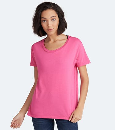 Soft Jersey Scoop Tee in Candy