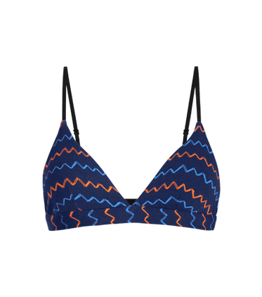 FeelFree Triangle Bralette in Squiggle