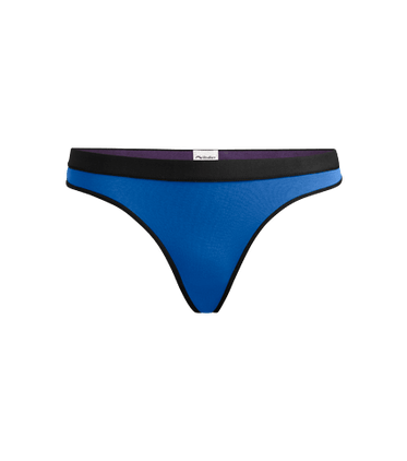 Women's Thong in Brilliant Blue