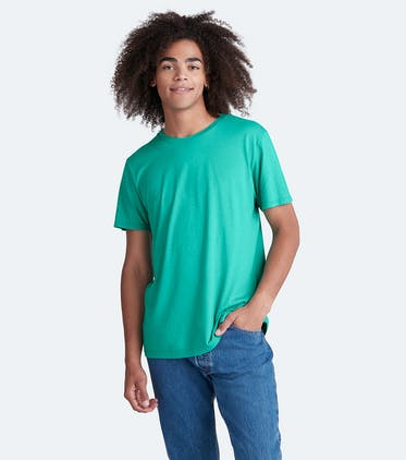 Soft Jersey Crew Tee in Minty Fresh