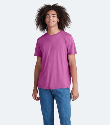 Soft Jersey Crew Tee in Purple Orchid