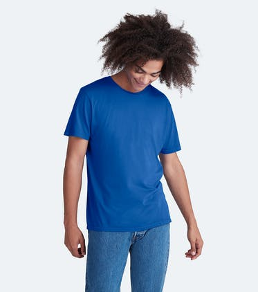 Soft Jersey Crew Tee in Brilliant Blue