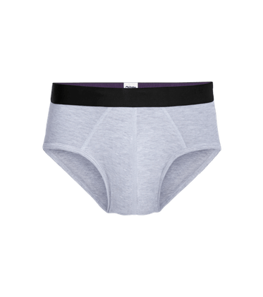 Men's Brief in Heather Grey