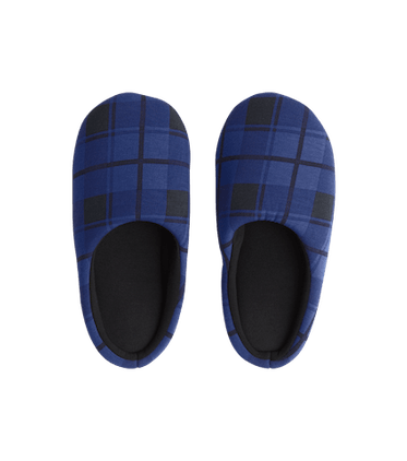 Modal Slippers in Midnight Plaid