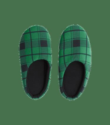 Modal Slippers in Fir Plaid