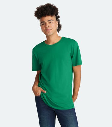 Soft Jersey Crew Tee in Spruce