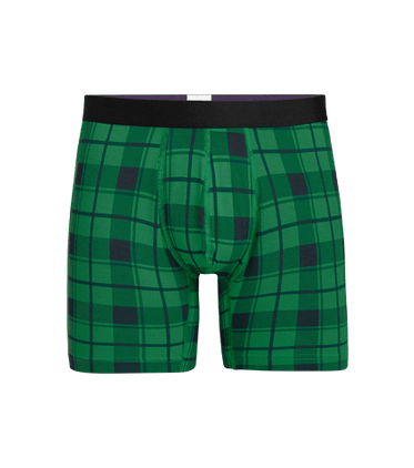 Men's Boxer Brief in Fir Plaid