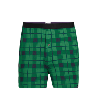 Men's Boxer in Fir Plaid