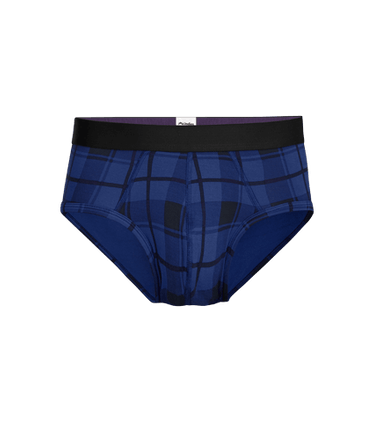 Men's Brief in Midnight Plaid