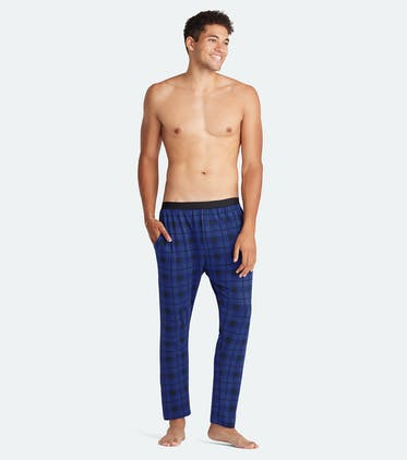 Men's Lounge Pant in Midnight Plaid