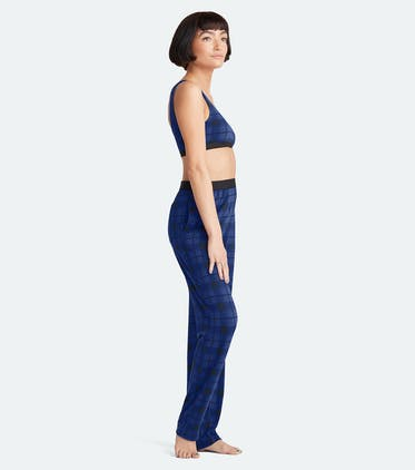 Women's Lounge Pant in Midnight Plaid
